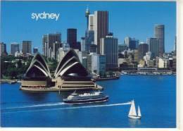 SYDNEY ; NSW - Aerial View Of Opera House And Skyline ,  Nice Stamp W. Fish - Sydney