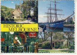 Historic MELBOURNE - Multi View W. Captain Cook's Cottage, Polly Woodside Ship, Royal Arcade, ... , Nice Stamp - Melbourne