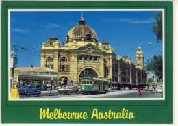 MELBOURNE -  Bustling Flinders Street Station, Tram  -  Nice Stamp - Melbourne