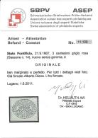 STATO PONTIFICIO 1867 3c GRIGIO ROSA Nº 14 MNG/* WITH CERTIFICATE CV 1500€ - Estados Pontificados