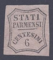 PARMA 1857 6c ROSA CHIARO Nº 1A MLH * - Parma
