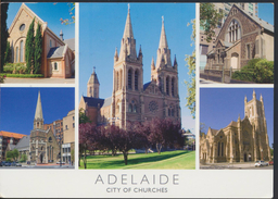 °°° 2154 - AUSTRALIA - ADELAIDE - CITY OF CHURCHES - With Stamps °°° - Adelaide