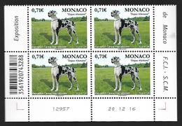 Monaco 2017 - Yv N° 3068 ** - Exposition Canine Internationale  ( Dogue Allemand) - Mi N° 3324 - Monaco