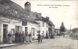 CPA - Saint Laurent Des Hommes - Rue Principale  ( En L'état ) - Otros Municipios