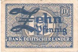 ALLEMAGNE   10 Pfennig   ND (1948)   P. 12a - [ 7] 1949-… : RFD - Rep. Fed. Duitsland