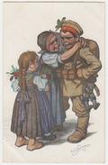 1914 -1918 - Carte Propagande Allemande - Enfants Et Enfant Habillé En Fantassin - Guerre 1914-18
