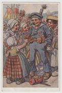 1914 -1918 - Carte Propagande Allemande - Enfants Et Enfant Habillé En Marin - Guerre 1914-18