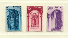 ISRAEL   ( D18 - 322 ) 1953   N° YVERT ET TELLIER  N° 68/70   N** - Israel