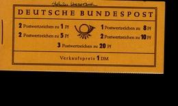 Markenheftchen Bund Postfr. MH 04 X Theodor Heuss MNH ** Neuf (4) Mit Rotem Randstreifen - [7] West-Duitsland