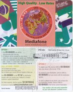 LEBANON - Flags, Mediafone Recherge Card, Used