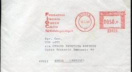 19848 Italia,red Meter/freistempel/ema/roma 1968 Federazione Italiana Gioco Calcio, Italian Football Federation - Storia Postale
