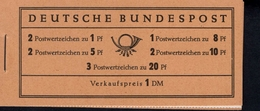 Markenheftchen Bund Postfr. MH 04 Y II Theodor Heuss MNH ** Neuf (5) 1 Randstreifen Rot Grau überdruckt - [7] West-Duitsland