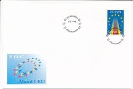 Mi 99 FDC Accession To The European Union EU - 1 March 1995 - Aland