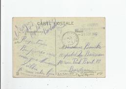 CACHET MILITAIRE DE L'HOPITAL TEMPORAIRE N° 27 BARBOTAN (GERS) DE LA 17 E REGION MILITAIRE 1917 SUR CARTE POSTALE - Marcophilie (Lettres)