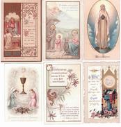 Lot De 10 Images Religieuses Fin 19 Eme Siècle (sauf Une) - Santini