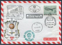 1968 Wien Ballonpost IFA Austria Pro Juventute Flight Cover - Balloon Covers