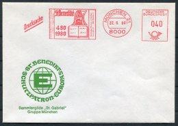 1980 Germany Munchen St Gabriel Christmas Franking Machine Cover. St Benedikt - [7] West-Duitsland