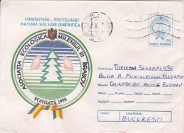 57666- ECOLOGIC ASSOCIATION, ENVIRONEMENT PROTECTION, COVER STATIONERY, 1996, ROMANIA - Umweltschutz Und Klima