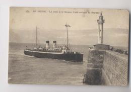 DIEPPE - Le Steamer Paris Arrivant De Newhaven -  La Jetée Et Le Phare -  Animée - Altri