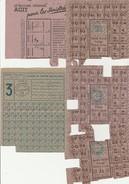 LOT DE TICKETS DE RATIONNEMENT - VILLE DE NICE -ANNEE 1943 - Vieux Papiers