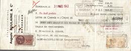 LETTRE DE CHANGE AUGUSTE BOULAINE  BANQUE POPULAIRE - Bills Of Exchange