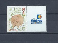 FRANCE Timbres Personnalisés Yvert N° 4001A Neuf Année Lunaire Chinois COCHON Avec Logo Timbres Personnalisés - Personalizzati
