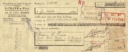 LETTRE DE CHANGE  L CRAYE FILS  A ROUBAIX  CCF DE LILLE - Bills Of Exchange