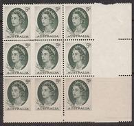 Australia 1964 Imperf, Mint No Hinge, Block Of 9, Sc# 365, SG 354b - Ungebraucht