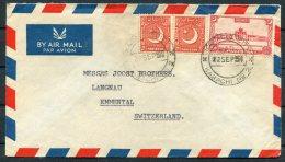 1951 Pakistan Karachi City Airmail Cover - Switzerland - Pakistan