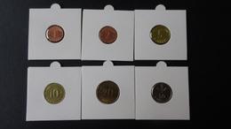 Latvia - 2007/2008/2009 - 1,2,5.10,20+50 Centimes - KM 13,15-17,21,22.1 - XF/unc - Look Scans - Lettonie