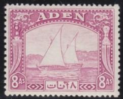 Aden     .       SG     .    8     .      *       .      Ongebruikt   .    /    .   Mint-hinged - Aden (1854-1963)