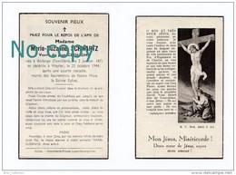 Bodange (Fauvillers), Weyler (Arlon), Mémento Marie-Suzanne Schwartz, Veuve De Jean Croughs, 2/01/1871 - 23/10/1944 - Images Religieuses