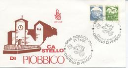 ITALIA - FDC  VENETIA 1985 - CASTELLI BOBINE - ANNULLO SPECIALE PIOBBICO - F.D.C.