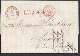 PAYS-BAS - Pli De Dordrecht Du 5 Avril 1849 à Destination D'Angers En Port Payé - B/TB - - Pays-Bas