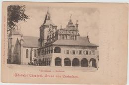 GRUSS AUS LEUTSCHAU (SLOVAQUIE) - ÜDVÖZLET LÖCSERÖL - VAROSHAZA - RATHAUS - Slovaquie