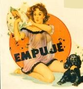 STICKER EROTIQUE PIN UP GIRLS EROTICA SEMINUDE CALCOMANIA AUTOCOLLANTE CIRCA 1950  ZTU. - Stickers