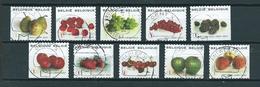 2007 Belgium Complete Set Fruits Booklet Stamps Used/gebruikt/oblitere - België