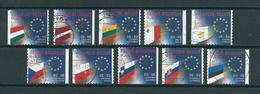 2004 Belgium Complete Set European Union Booklet Stamps Used/gebruikt/oblitere - België
