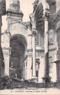 59 CAMBRAI INTERIEUR DE L EGLISE SAINT GERY / GUERRE MONDIALE 1914 1918 - Cambrai