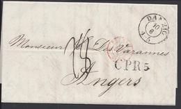 POLOGNE - Pli De Dantzig Du 10 Juin 1847 à Destination D'Angers En Port Dû - Taxe 28 Décimes -  B/TB - - Polen