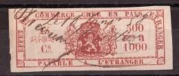 Belgique - 1898 - Effet De Commerce - 500 Francs à 1000 - Fiscaux