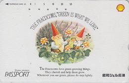 Télécarte Japon / 110-152942 - SHELL - Comics - NAIN / THE FRACOCOMS - DWARF Japan Phonecard / Essence Pétrole Oil - BD