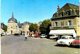 Objat La - Place Et L'église - Voiture R4 - Ami ... - Commerce - Frankrijk