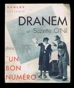 Pneu DUNLOP Présente DRANEM & SUZETTE O'NIL Dans Le FILM Un BON NUMÉRO Vers 1935 - Cars