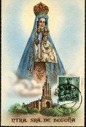 19869 Spain, Maximum 1956 Virgin Madonna Nuestra Senora De Begona - Tarjetas Máxima