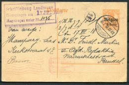 1918 Germany Belgium Censor Stationery Postcard. Boom Antwerpen Military - WW I