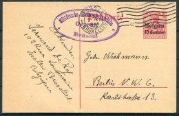 1915 Germany Belgium Censor Stationery Postcard Bruxelles - Berlin - WW I