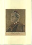 Mgr HAYES ARCHEVÊQUE DE NEW YORK . REPRO DE PHOTO COULEURS DECOUPEE ET COLLEE SUR PAPIER . - Religión & Esoterismo