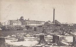 RPPC REAL PHOTO POSTCARD FAVAL MINE NO 4 EVELETH MINNESOTA 1908 - Andere