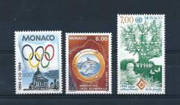 Monaco Timbres De 1994  N°1937 A 1939  Neuf ** Parfait - Monaco